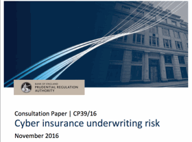 PRA cyber Insurance underwriting risk consultation Nov 2016
